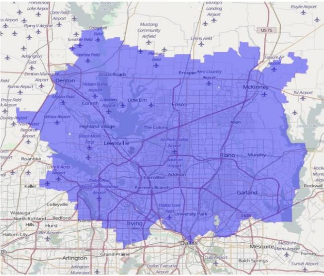 Dallas Appliance Repair Service Area